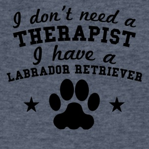 Don't Need Therapist I Have A Labrador Retriever - Men's V-Neck T-Shirt by Canvas