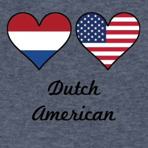 Dutch American Flag Hearts - Men's V-Neck T-Shirt by Canvas