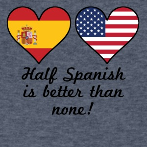 Half Spanish Is Better Than None - Men's V-Neck T-Shirt by Canvas