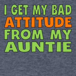 I Get My Bad Attitude From My Auntie - Men's V-Neck T-Shirt by Canvas