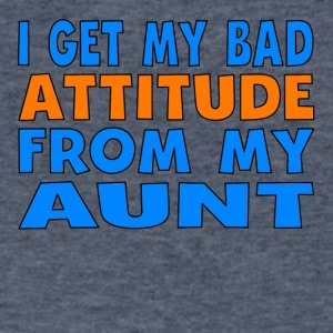 I Get My Bad Attitude From My Aunt - Men's V-Neck T-Shirt by Canvas