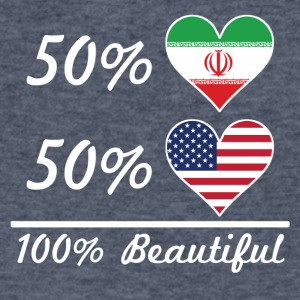 50% Iranian 50% American 100% Beautiful - Men's V-Neck T-Shirt by Canvas