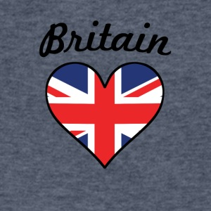 Britain Flag Heart - Men's V-Neck T-Shirt by Canvas