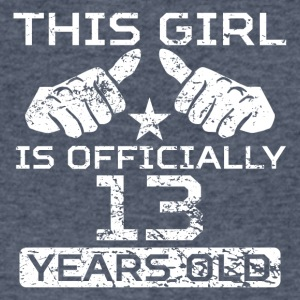This Girl Is Officially 13 Years Old - Men's V-Neck T-Shirt by Canvas