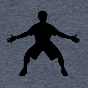 Basketball Defender - Men's V-Neck T-Shirt by Canvas