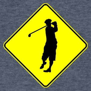 Golfer Crossing - Men's V-Neck T-Shirt by Canvas