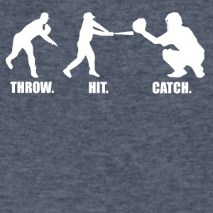 Throw Hit Catch Baseball - Men's V-Neck T-Shirt by Canvas
