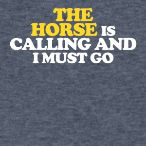 The Horse is calling and I must go - Men's V-Neck T-Shirt by Canvas