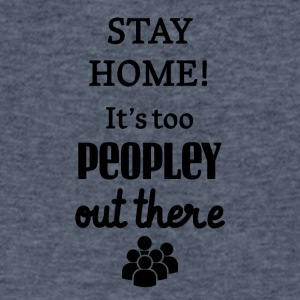 Stay home! - Men's V-Neck T-Shirt by Canvas