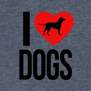 I LOVE DOGS - Men's V-Neck T-Shirt by Canvas
