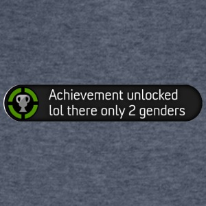 Xbox achievement - lol there are only 2 genders - Men's V-Neck T-Shirt by Canvas