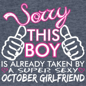 Sorry This Boys Already Taken October Boyfriend - Men's V-Neck T-Shirt by Canvas