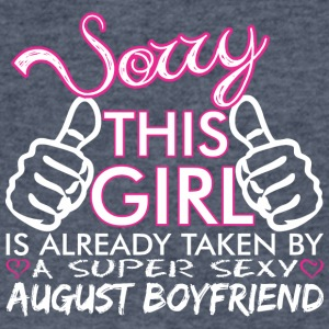 Sorry This Girl Is Already Taken August Boyfriend - Men's V-Neck T-Shirt by Canvas