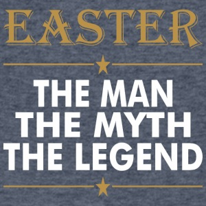 Easter The Man The Myth The Legend - Men's V-Neck T-Shirt by Canvas