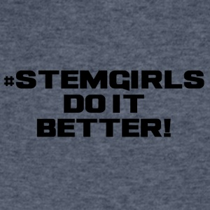 STEM GIRLS DO IT BETTER - Men's V-Neck T-Shirt by Canvas