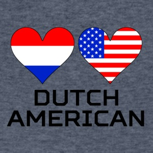 Dutch American Hearts - Men's V-Neck T-Shirt by Canvas
