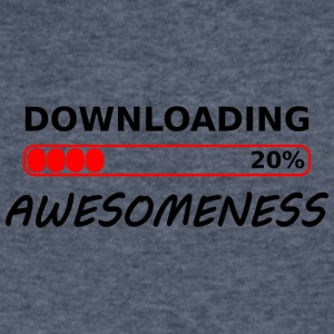 downloading awesomeness tshirt - Men's V-Neck T-Shirt by Canvas