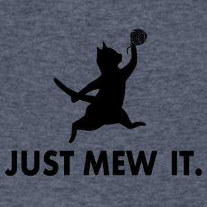 Just Mew It - Men's V-Neck T-Shirt by Canvas
