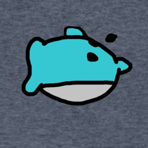 Bad Drawing #1: Dolphin - Men's V-Neck T-Shirt by Canvas