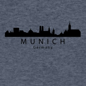 Munich Germany Skyline - Men's V-Neck T-Shirt by Canvas