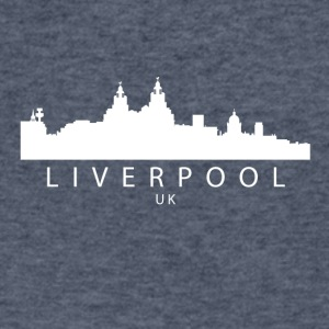 Liverpool England UK Skyline - Men's V-Neck T-Shirt by Canvas