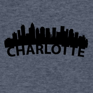 Arc Skyline Of Charlotte NC - Men's V-Neck T-Shirt by Canvas