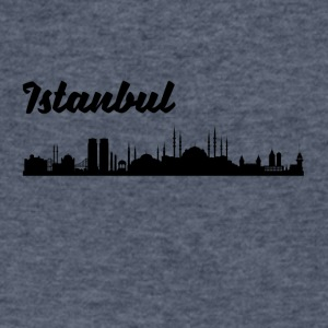 Istanbul Skyline - Men's V-Neck T-Shirt by Canvas