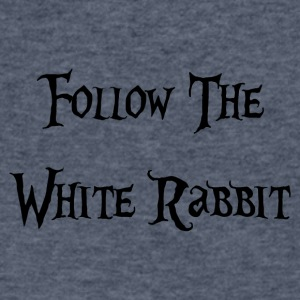 Follow The White Rabbit Alice - Men's V-Neck T-Shirt by Canvas