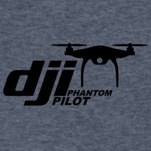 DJI PHANTOM PILOT logo - Men's V-Neck T-Shirt by Canvas