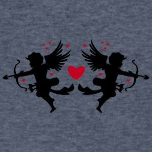 angel-draws-heart-valentines-day-love-shape - Men's V-Neck T-Shirt by Canvas