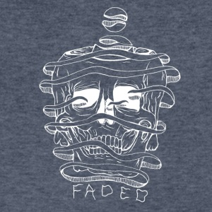FADED white - Men's V-Neck T-Shirt by Canvas
