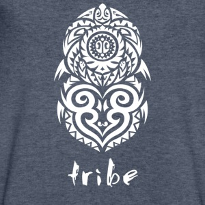 Tribe (Hawaii in White) - Men's V-Neck T-Shirt by Canvas