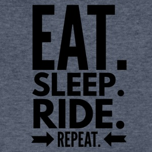 Eat Sleep Ride Repeat - Men's V-Neck T-Shirt by Canvas