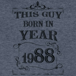 this guy born in year 1988 black - Men's V-Neck T-Shirt by Canvas