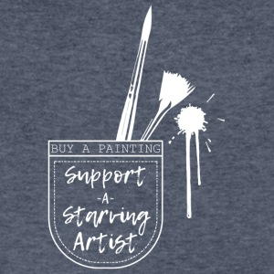 Support a Starving Artist - Men's V-Neck T-Shirt by Canvas