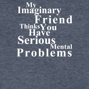 Imaginary Friend - Men's V-Neck T-Shirt by Canvas