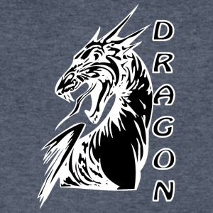 Angry_dragon_2_black - Men's V-Neck T-Shirt by Canvas