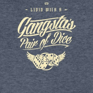 Gangstas Pair of dice - Men's V-Neck T-Shirt by Canvas
