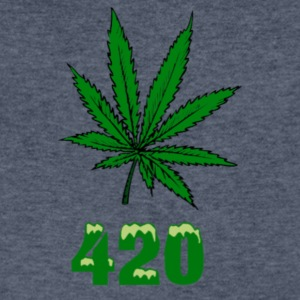 420 POT MARIJUANNA WEED LEAF - Men's V-Neck T-Shirt by Canvas