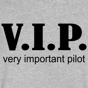 VIP Pilot - Men's V-Neck T-Shirt by Canvas