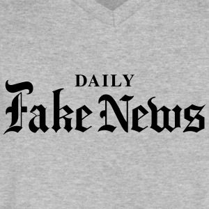 DAILY Fake News - Men's V-Neck T-Shirt by Canvas