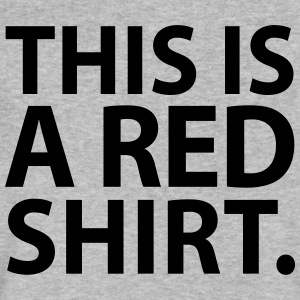This Is A Red Shirt - Men's V-Neck T-Shirt by Canvas