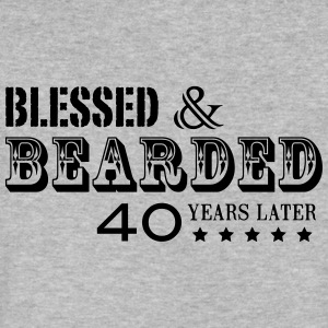 BEARD 40 YEARS - Men's V-Neck T-Shirt by Canvas