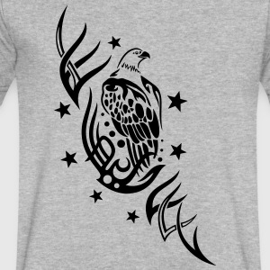 Eagle with tribal and stars. - Men's V-Neck T-Shirt by Canvas