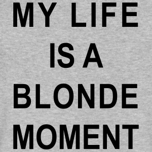 My life is a blonde moment - Men's V-Neck T-Shirt by Canvas