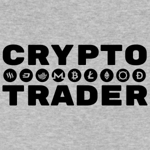 CRYPTO TRADER w/symbols (Black) - Men's V-Neck T-Shirt by Canvas