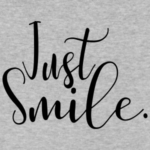 Just Smile - Men's V-Neck T-Shirt by Canvas
