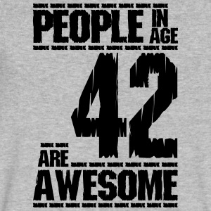 PEOPLE IN AGE 42 ARE AWESOME - Men's V-Neck T-Shirt by Canvas