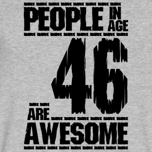 PEOPLE IN AGE 46 ARE AWESOME - Men's V-Neck T-Shirt by Canvas