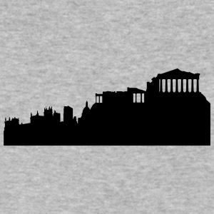 Athens silhouette - Men's V-Neck T-Shirt by Canvas